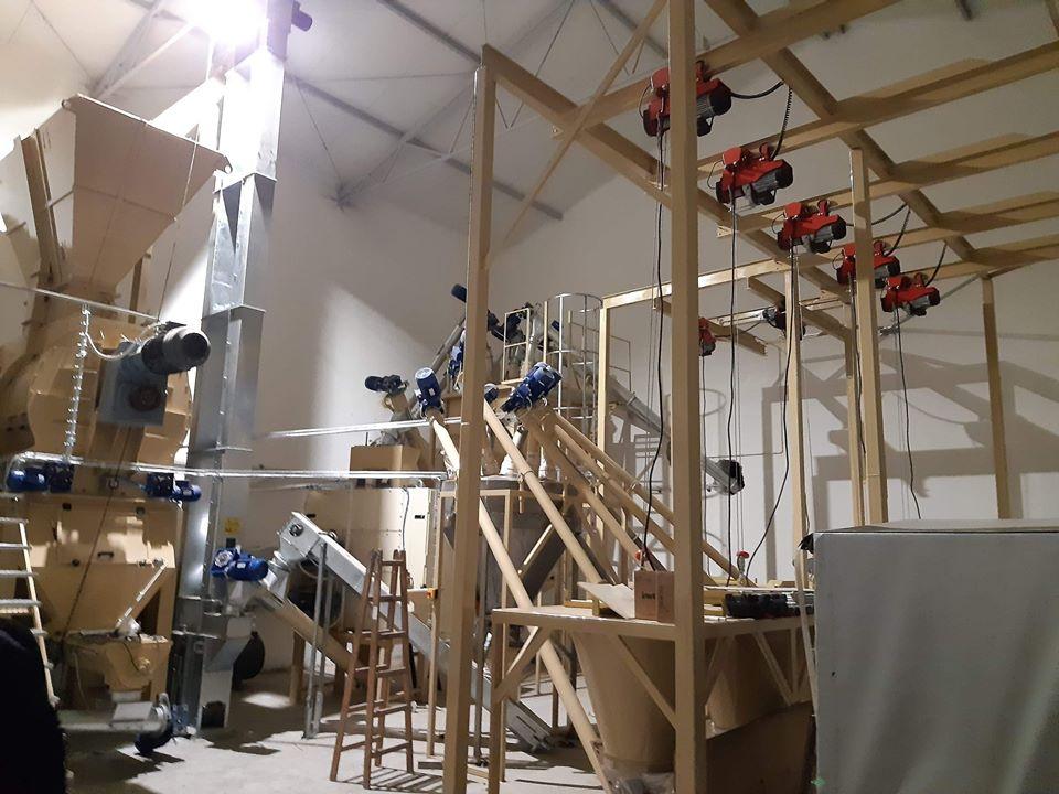 Mieszalnia pasz dla indyków 10 ton/godzinę